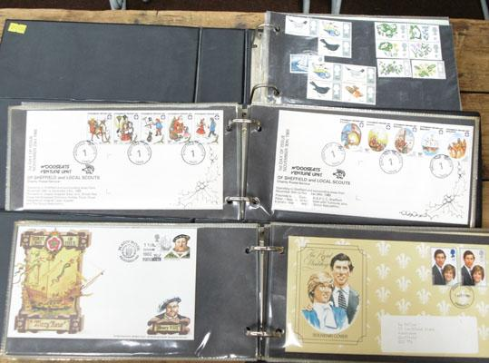 3 albums of first day covers