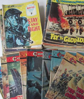 Selection of Commando comics library books
