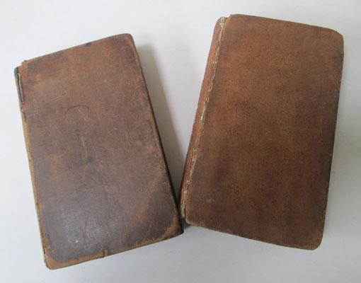 2x Vintage books (1793&1808) leather bound, illustrated books