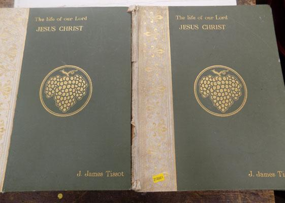 2x Life of Christ books rare-J James Tissot