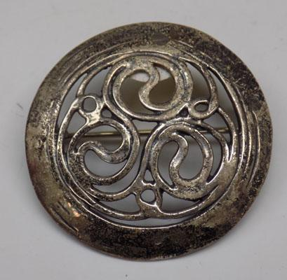Unusual silver brooch