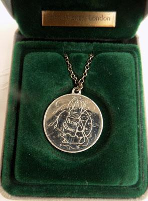 Silver Peter Rabbit necklace