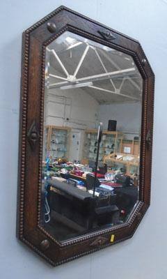 Vintage bevel edged mirror
