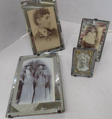 5x Vintage glass photo frames