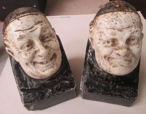 Pair of Monks bookends