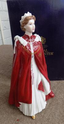 Royal Worcester Queens 80th Birthday 2006 figure