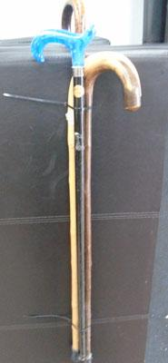Selection of walking sticks