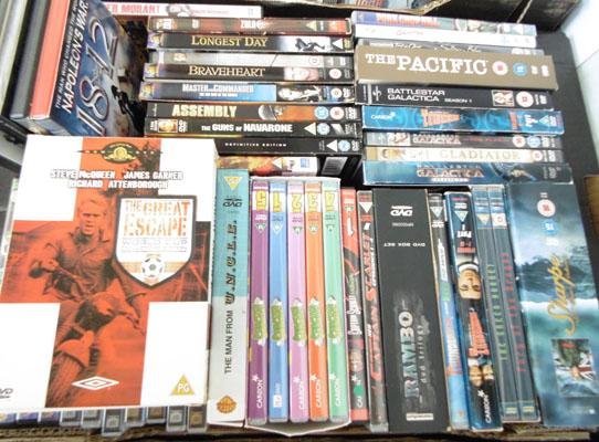 Rare box sets inc Thunderbirds/Stingray/ Cpt Scarlet & collectable DVD's