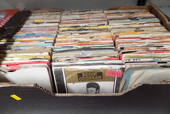 Large box of records mixed