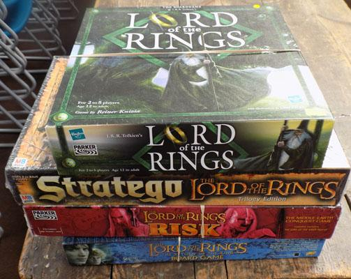 4 x Lord of the rings games (all complete and 1 sealed) 1 x Reiner Knizia