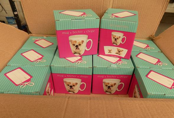 12x New British Bulldog mugs