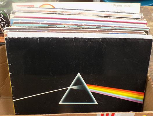 Box of vinyl - Pink Floyd, Gensis, Springsteen