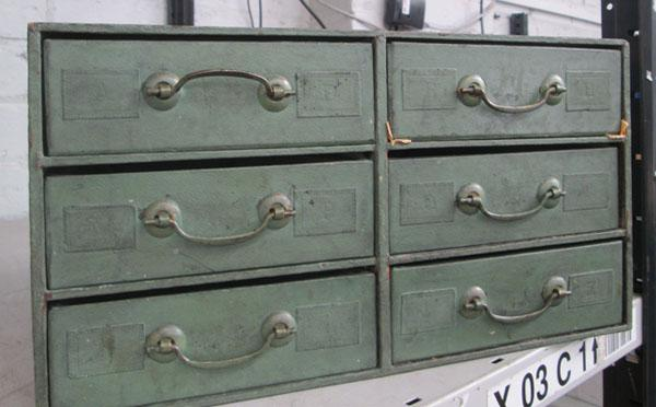 Vintage drawer chest A - Z