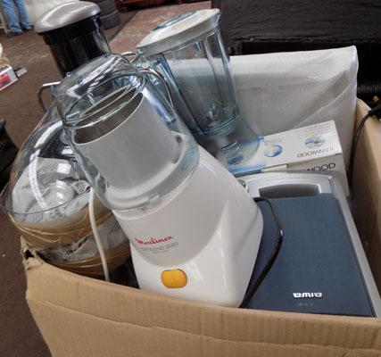 Box of household electricals