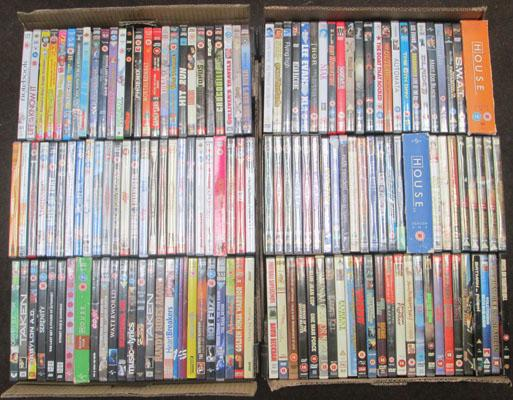 2x Boxes of DVD's