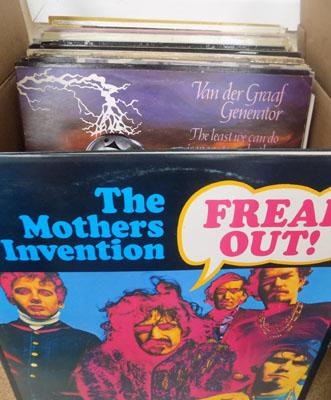 Box of 60/70's Pop, Prog rock, & Folk LP's some rareties