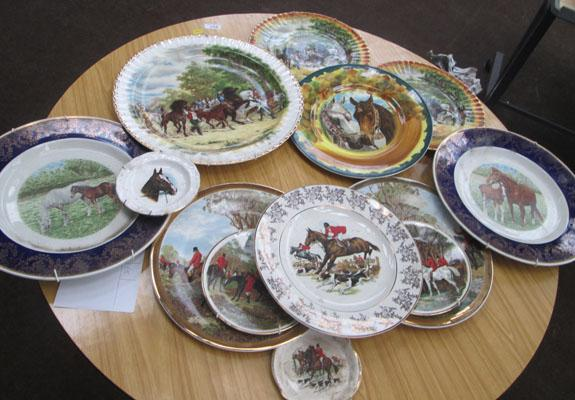 Large box of plates-Horse design