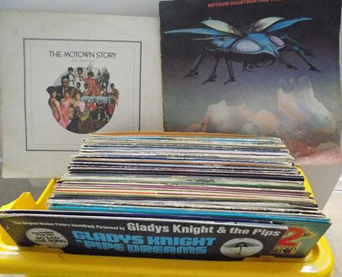 Box of records, mainly Soul/Motown