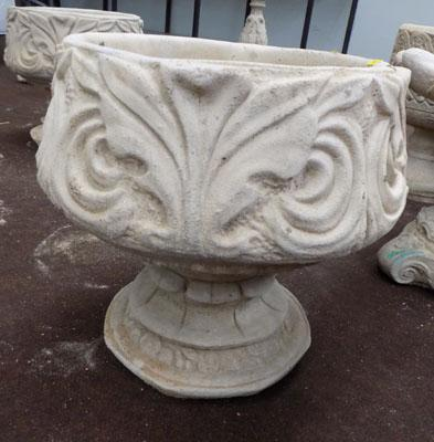 Large decorative planter on base