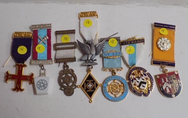 Collection of Masonic type medals