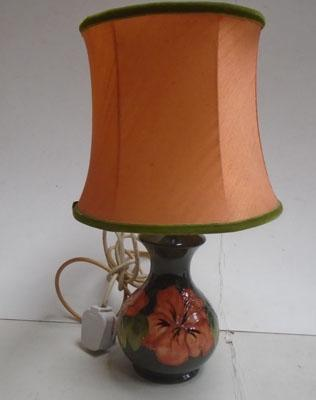 Moorcroft Hibiscus table lamp & shade