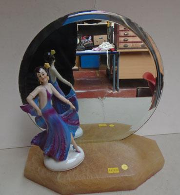 Small Art Deco mirror with lady
