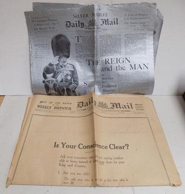 Silver Jubilee Silver printed Daily Mail 1935 & 1 other