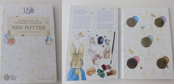 150 years of Beatrix Potter,  50 pence coin album