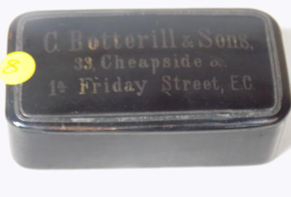A rare antique Japanned salesman sample snuff box