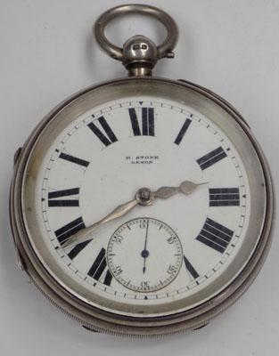 Solid silver H.Stone pocket watch-circa 1901 Chester