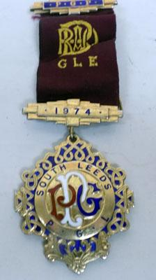 9CT Gold Plated Silver RAOB  PGP Medal