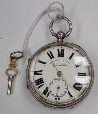 Solid silver G.Aaronson pocket watch-circa 1909 Chester