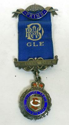 9CT Gold Plated Silver RAOB Welcome Lodge Medal