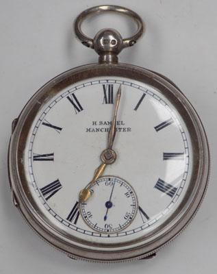 Solid silver H.Samuel pocket watch-circa 1897 Chester