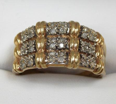9ct Gold & Diamond cluster type ring