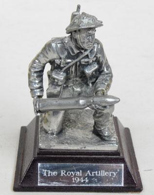 Royal Artillery 1944 model soldier-possibly pewter