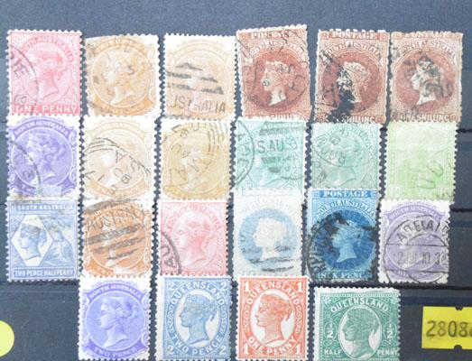 Quantity of mint and used early Victorian Commonwealth stamps