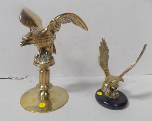 A pair of military style eagles
