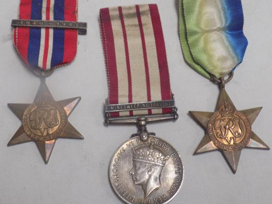 WWII Minesweeping, Atlantic Star & 1 other medal