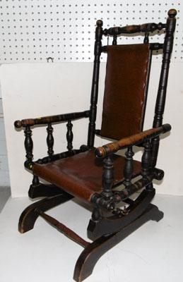c1880's Child's American spindle turned chair