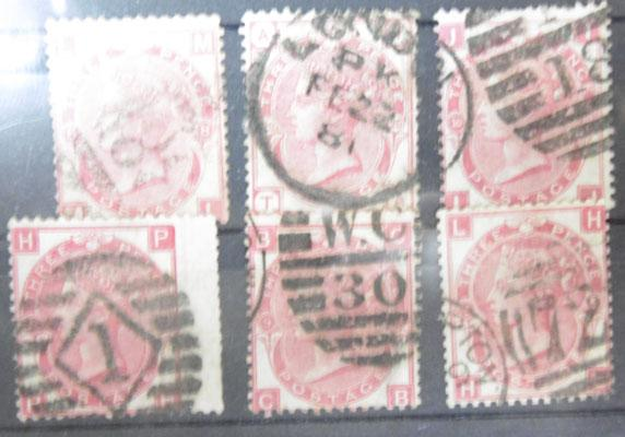 Collection of 1860s 3d Rose  x6