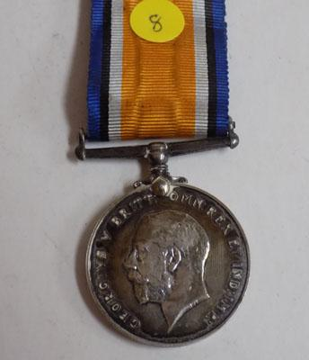 WWI British Army silver Kings medal