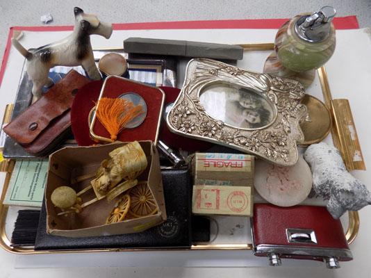 Large tray of collectables, incl. vintage items