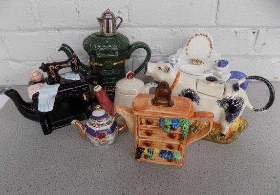Collection of decorative teapots