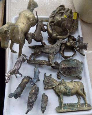 Selection of vintage brass animals