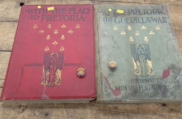 2x Boer War badges & 2x Boer War books