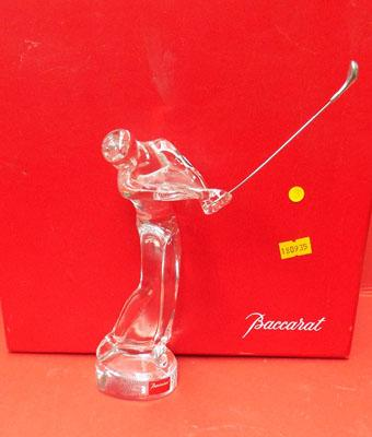 Baccarat Crystal golf ornament