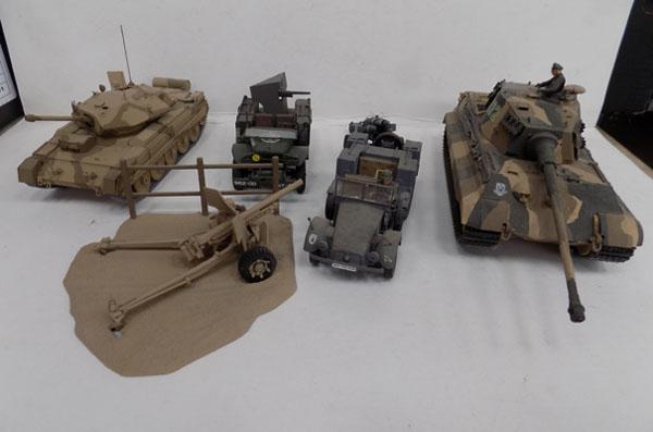 Tanks & field artillery & rocket launcher