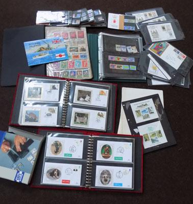 Box of Stamp albums and stamps