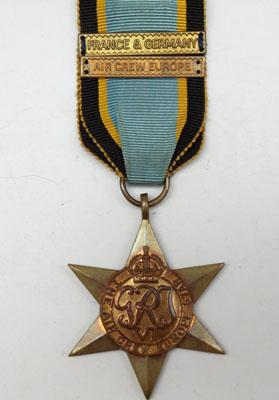 WW2 The Air crew Europe star with France & Germany Bar